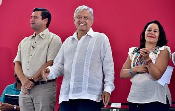 Presidente Andrés Manuel López Obrador en Bahía de Banderas, Nayarit