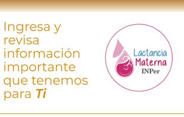 Logotipo de Lactancia Materna del INPer
