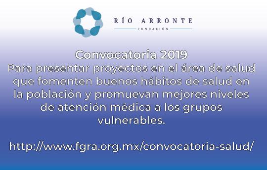 Invitación para participar en la Convocatoria 2019 de la Fundación Río Arronte para presentar proyectos en el área de salud que fomenten buenos hábitos en la población