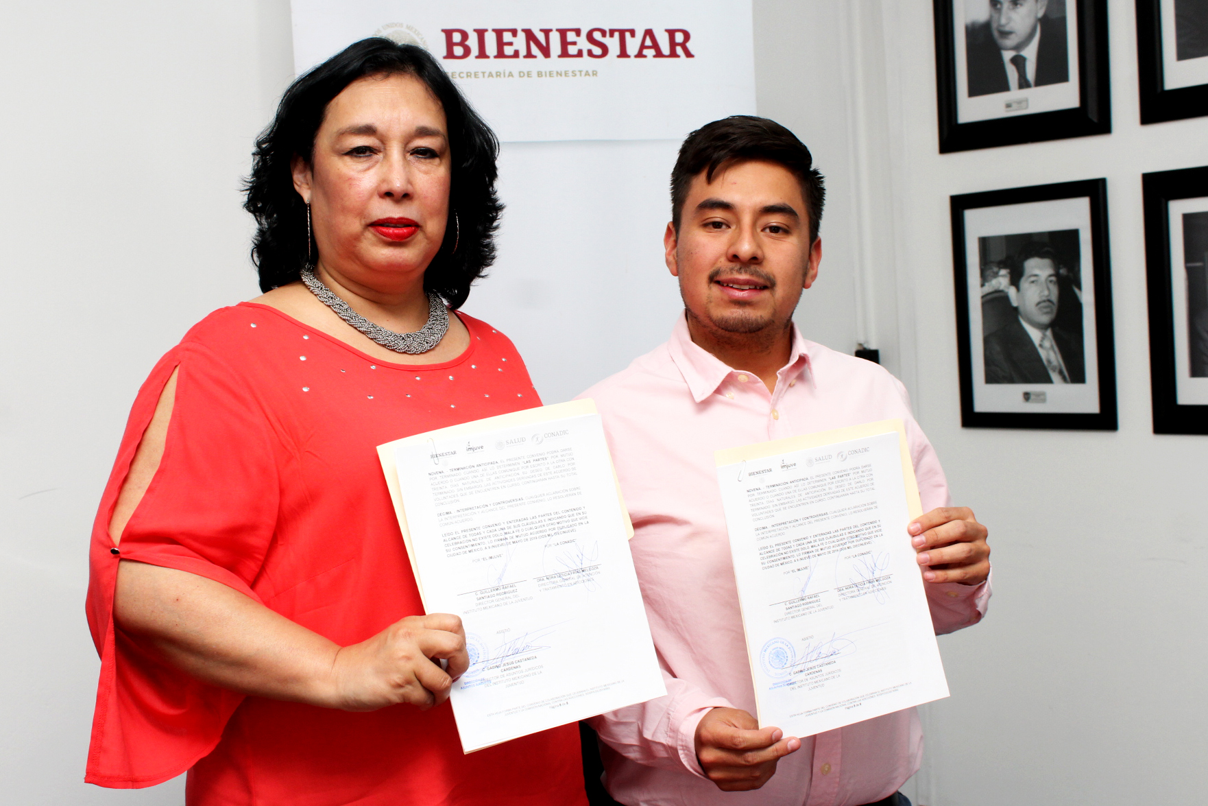 Firma de Convenio de Colaboración entre el Instituto Mexicano de la Juventud (IMJUVE) y la Comisión Nacional contra las Adicciones (CONADIC)