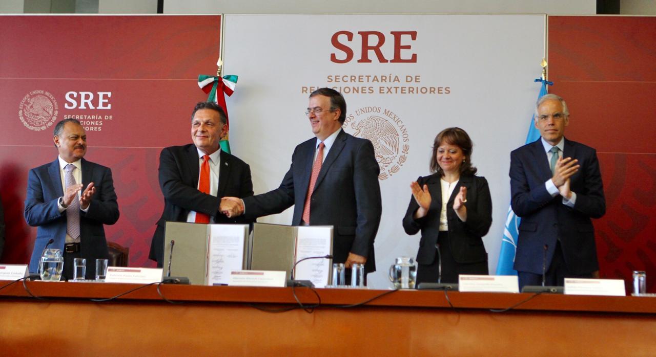 Cancillería y UNOPS firman acuerdos para transparentar procesos de licitación