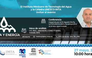 Invitación a conferencia y panel sobre Agua y Energía