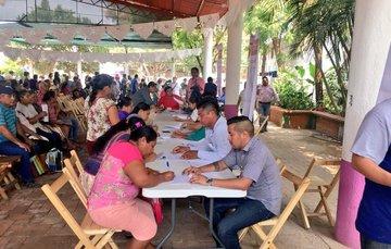 Reuniones de trabajo dentro del marco del PNR en Juchitán, Oaxaca.