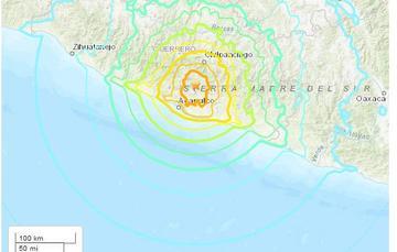 mapa del sismo del 19 de mayo de 1962
