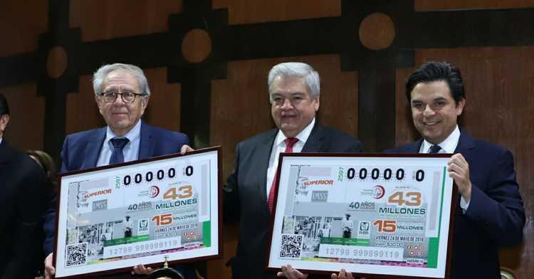"""""""Este Sorteo Superior del billete de la Lotería, es también una forma de reconocer que, gracias la unión de hace 40 años de IMSS-Coplamar, hoy más de 13 millones de mexicanas y de mexicanos, habitantes de comunidades rurales y urbanas marginadas que no es"""
