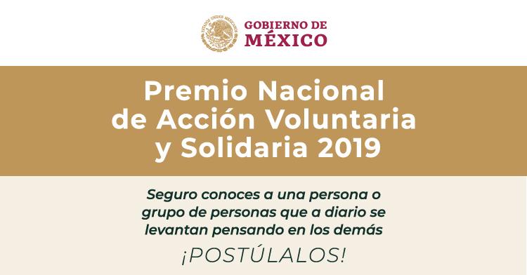 Banner Premio Nacional de Acción Voluntaria y Solidaria 2019