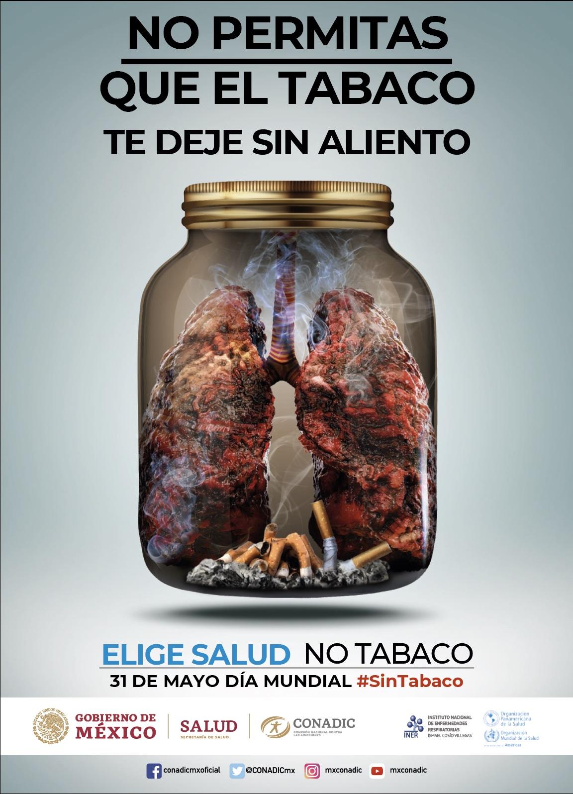 """Día Mundial sin Tabaco 2019 """"Tabaco y Salud Pulmonar"""""""