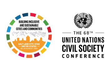 Banner 68º Conferencia de la Sociedad Civil de Naciones Unidas