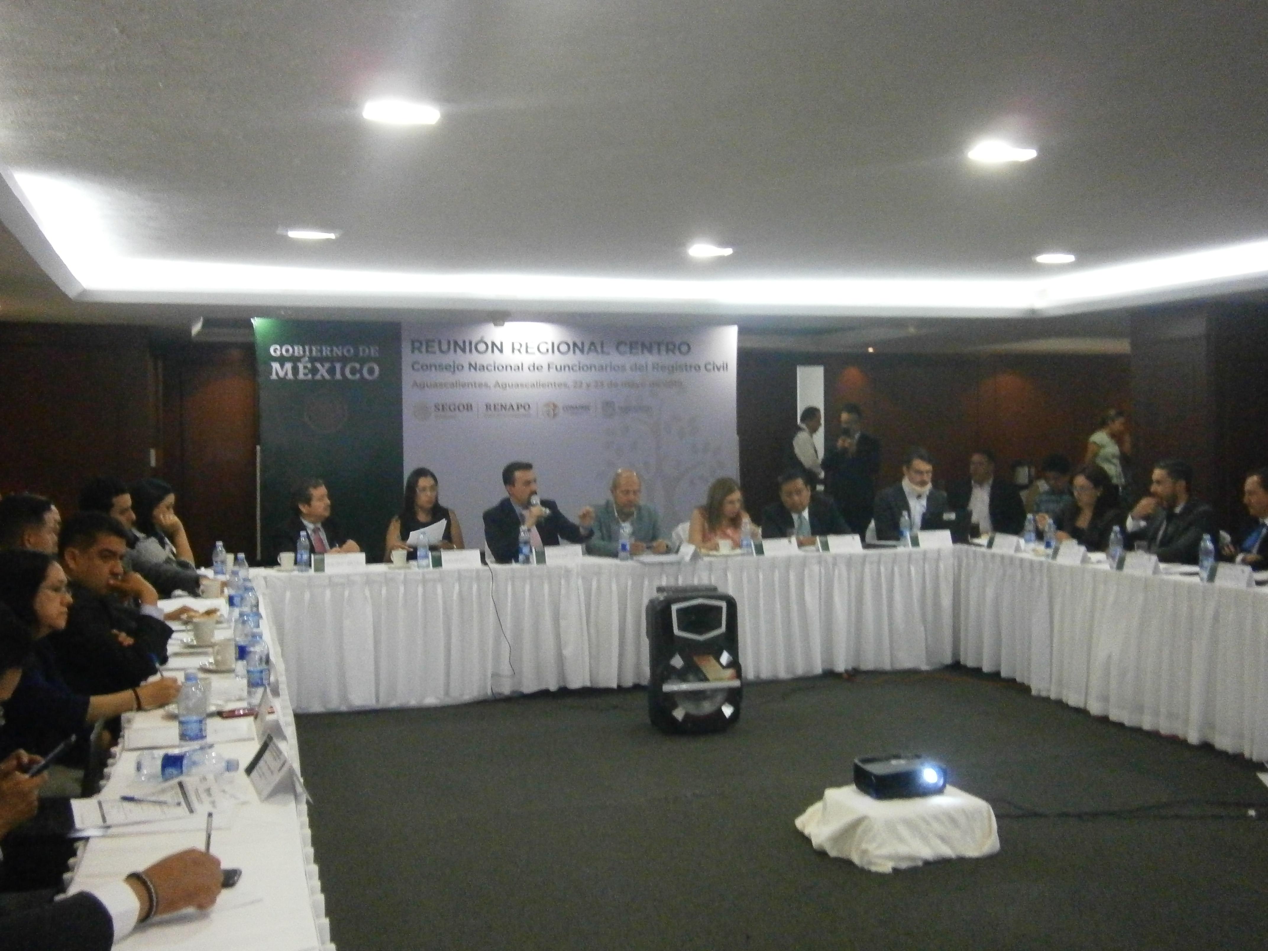 Consejo Nacional de Funcionarios del Registro Civil, Región Centro 22 y 23 de mayo, Ciudad de Aguascalientes