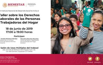 Invitación al taller sobre derechos de las personas trabajadoras del hogar