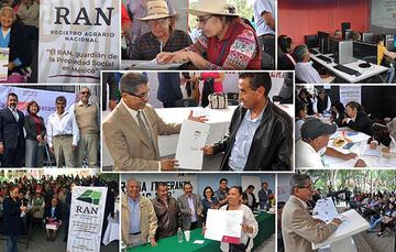 Destacada Colage de imágenes en las diferentes Alcaldías durante las Jornadas Agrarias Itinerantes del Registro Agrario Nacional (RAN).