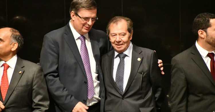 Secretary Ebrard invites legislature to take part in diplomacy of national unity