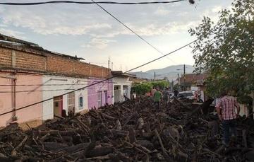 Desbordamiento de río y flujo de escombros, San Gabriel, Jalisco, 2019. Foto: Sergio Cuevas