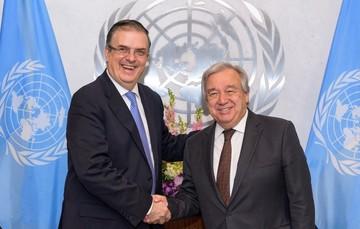 El secretario de Relaciones Exteriores anuncia en Naciones Unidas el lanzamiento del Plan de Desarrollo Integral con Centroamérica