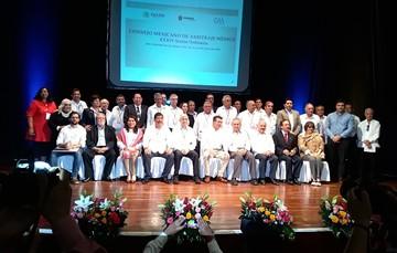 Miembros del Consejo Mexicano de Arbitraje Médico durante la ceremonia de inauguración de la treinta y cuatro sesión ordinaria