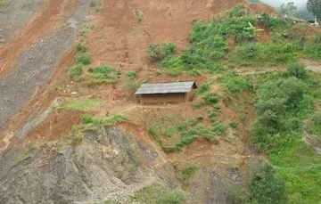 Deslizamiento en la localidad de Caxitepec, municipio de Atlixtac, Guerrero, 2011