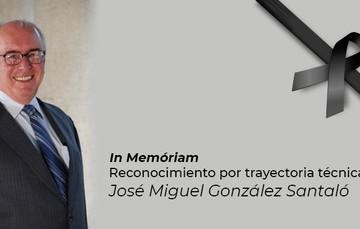 Dr. José Miguel González Santaló, pionero en temas de simuladores, cogeneración, captura y almacenamiento geológico de CO2, entre otros.