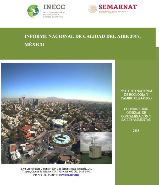 INFORME NACIONAL DE CALIDAD DEL AIRE 2017, MÉXICO
