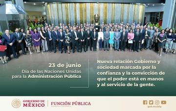 Secretaria Sandoval Ballesteros conmemora  el Día de las Naciones Unidas para la Administración Pública