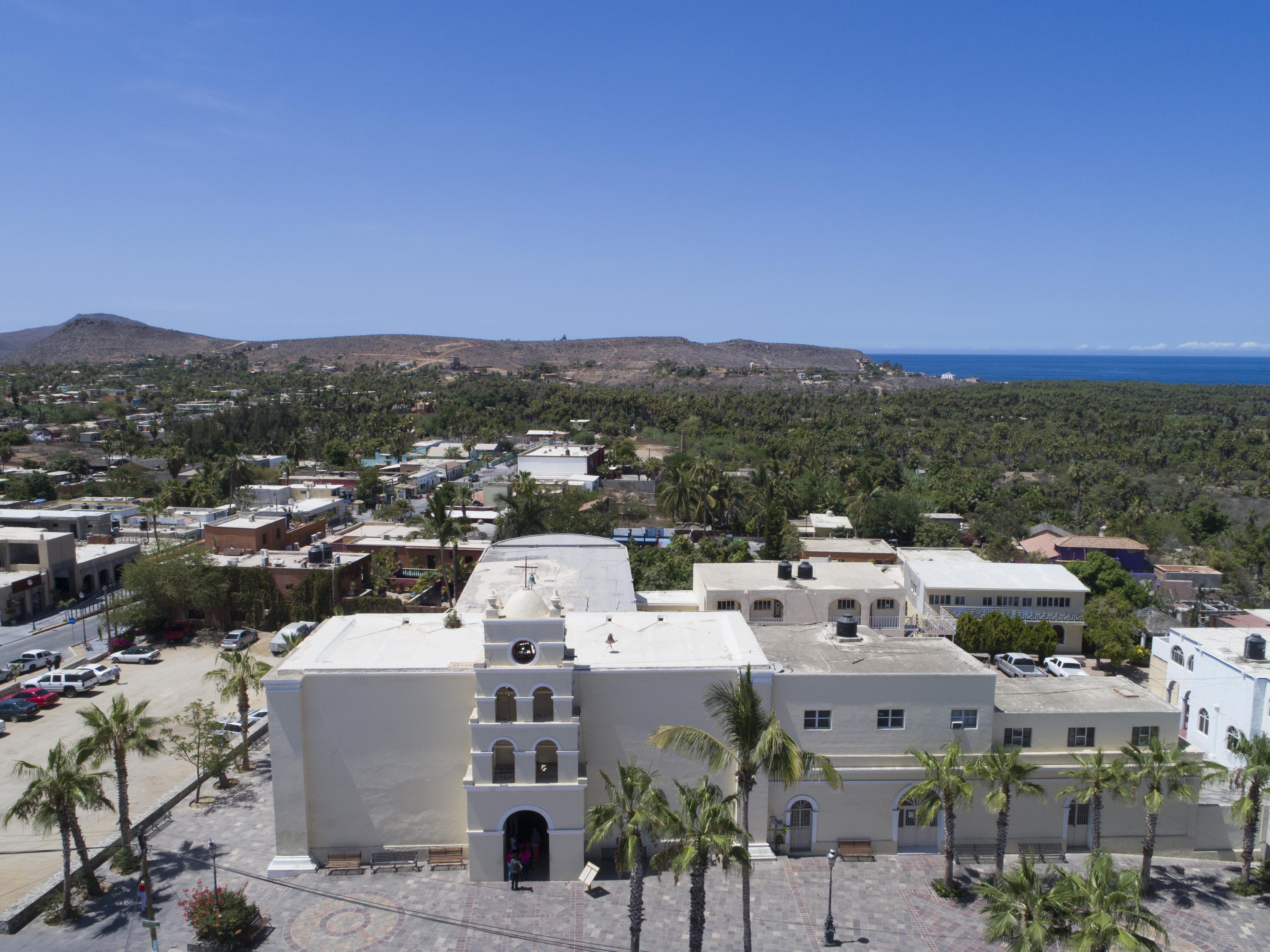 Panorámica de Todos Santos, Baja California Sur.