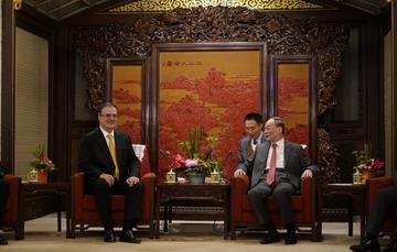 El canciller Marcelo Ebrard inicia visita de trabajo a China