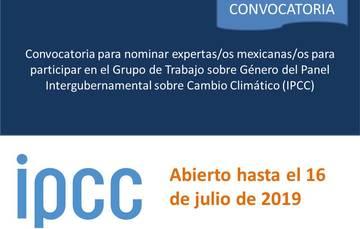 Convocatoria para participar en el Grupo de Trabajo sobre Género del IPCC