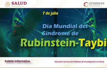 Imagen con titulo 7 de julio Día Mundial del Síndrome de Rubinstein-Taybi.
