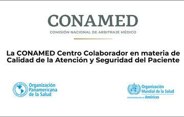 Logo CONAMED, OPS/OMS