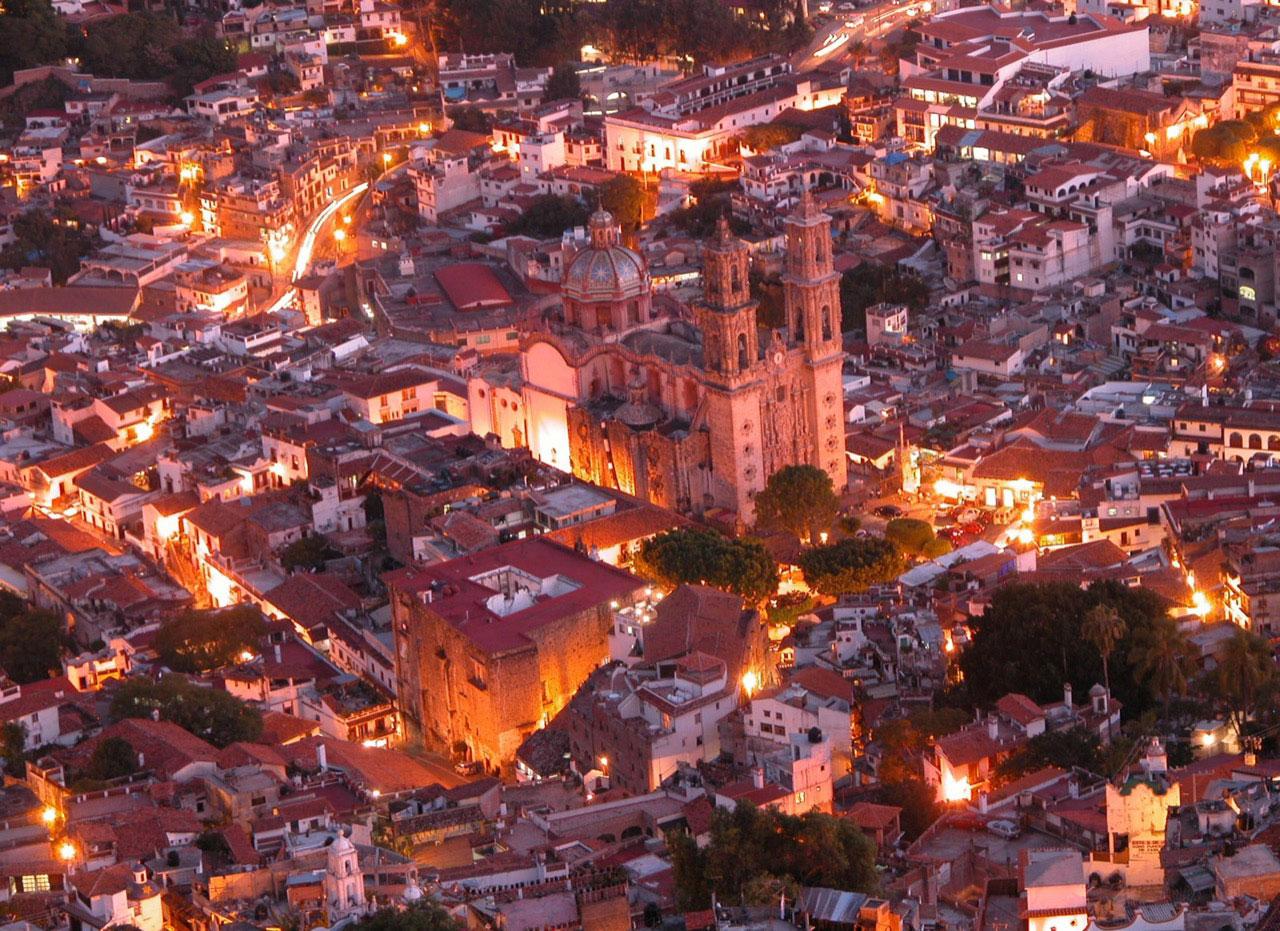 Vista panorámica de Taxco, Guerrero.
