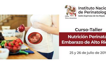 Imagen de mujer embarazada preparando alimentos