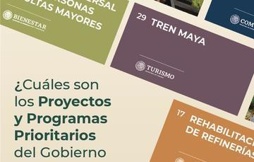 Proyectos y Programas Prioritarios del Gobierno de México.