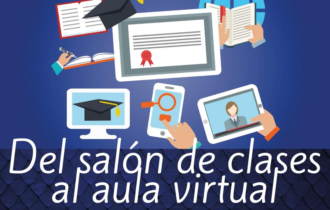 Banner del taller semi presencial Del salón de clases al aula virtual