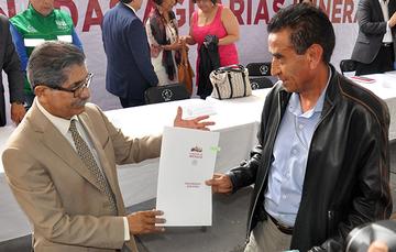Destacada Entrega por parte del Director en Jefe del Registro Agrario Nacional (RAN)