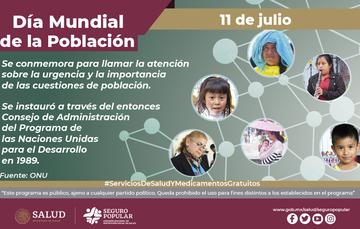 11 de julio: Día Mundial de la Población