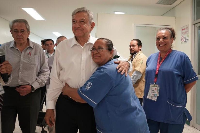 El presidente de México, Andrés Manuel López Obrador, desde Tepic, Nayarit.