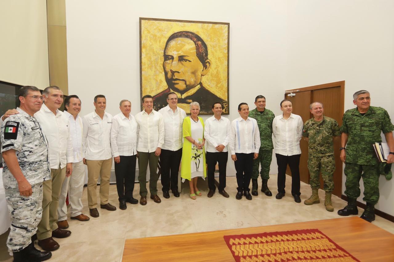 Reunión de trabajo del Gobierno Federal con gobernadores del sur-sureste para avanzar en la implementación del PDI en la Frontera Sur