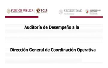 Auditoria de desempeño a la Dirección General de Coordinación Operativa