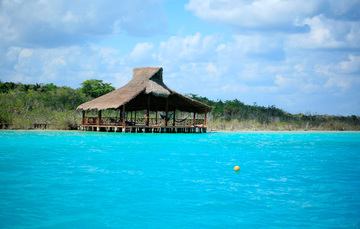 Vista de la Laguna de Bacalar, Quintana Roo