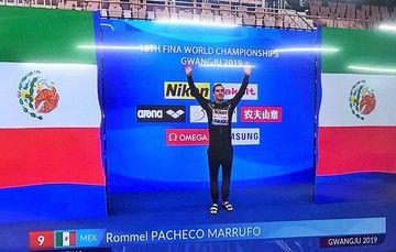 El clavadista yucateco avanzó a la final de trampolín 3 metros en sexto lugar.