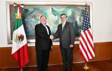 Concluye con éxito reunión entre el secretario de Estado Michael R. Pompeo y el secretario de Relaciones Exteriores Marcelo Ebrard Casaubon