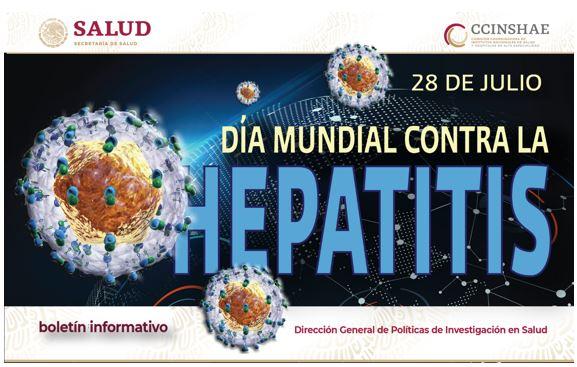 Boletín informativo CCINSHAE, lunes 22 de Julio 2019 (Día Mundial Contra La HEPATITIS)