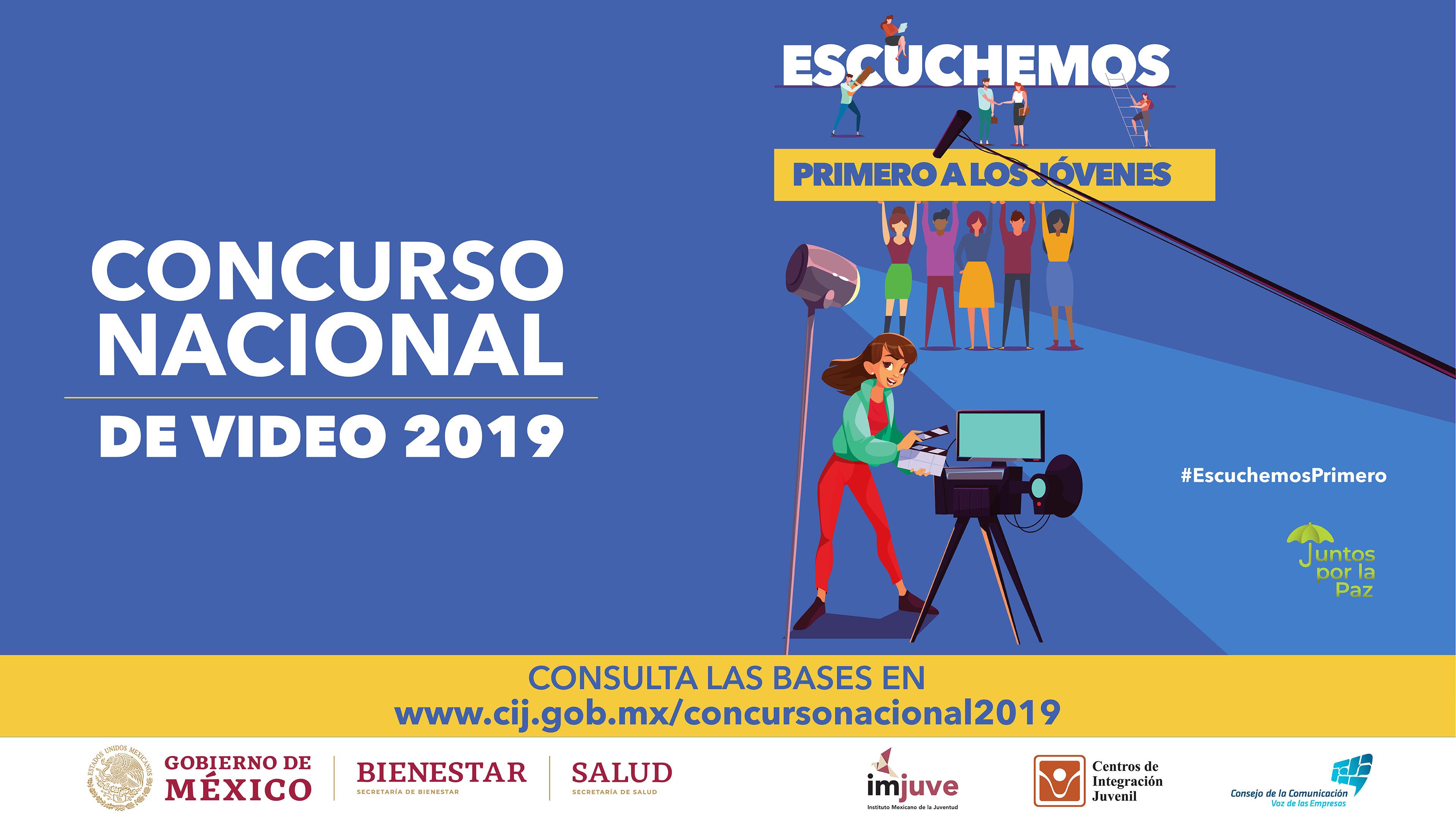"""Concurso Nacional de Video 2019 """"Escuchemos primero a los jóvenes"""""""
