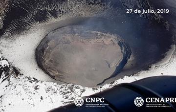 El día 27 de julio, con el apoyo de la Guardia Nacional, se realizó un sobrevuelo de reconocimiento al cráter del volcán Popocatépetl. Se pudo corroborar que el domo número 83 del volcán Popocatépetl fue destruido.