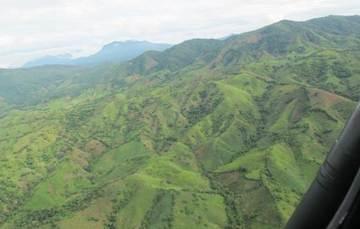 Montañas deforestadas en el sureste del estado de Guerrero, 2013