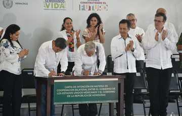 El presidente de México recibe a su homólogo de Honduras, y anuncian acciones de cooperación en el marco del PDI