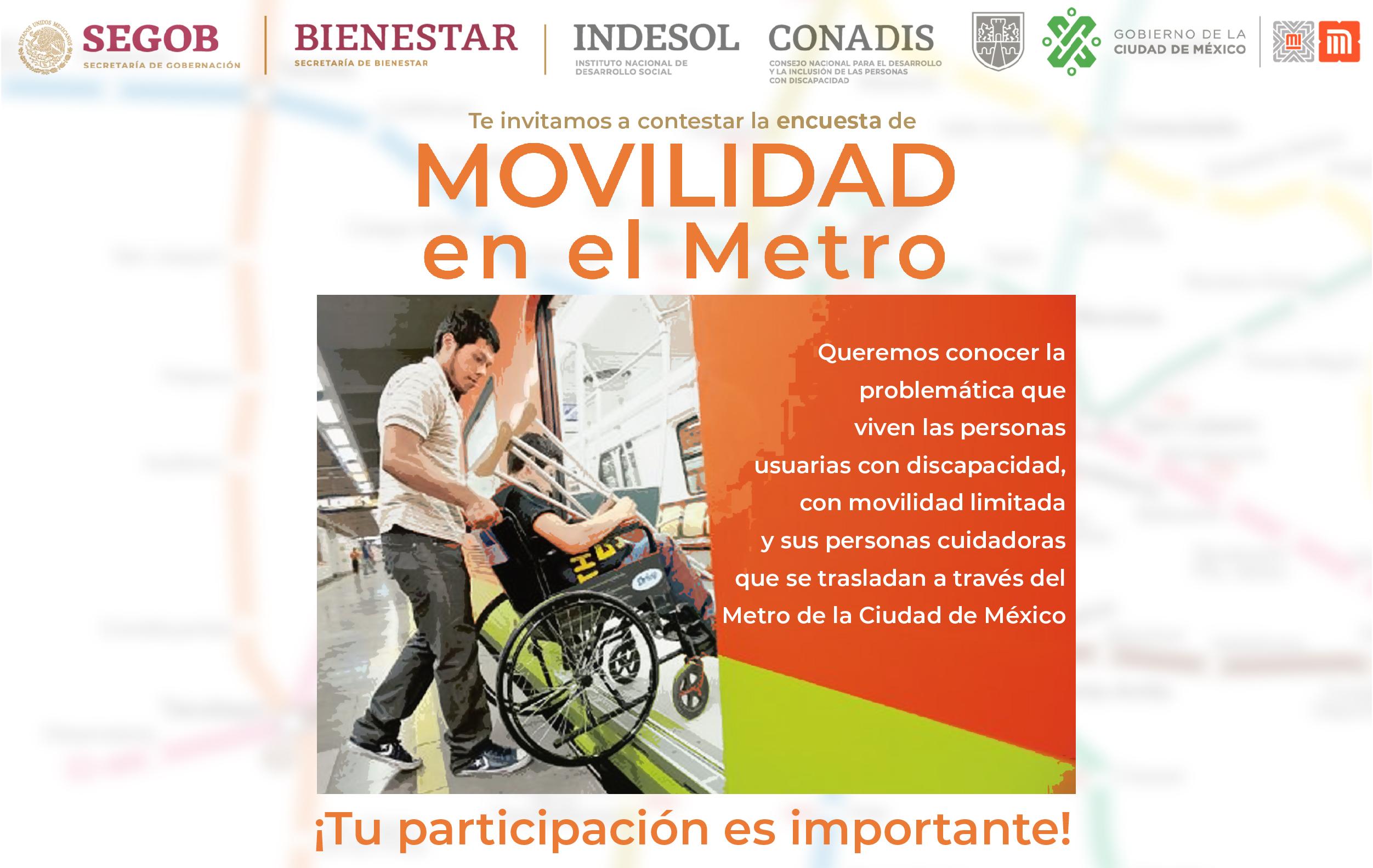Banner invitación encuesta de Movilidad en el metro