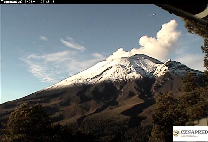 En las últimas 24 horas por medio de los sistemas de monitoreo del volcán Popocatépetl se identificaron 125 exhalaciones, acompañadas de vapor de agua, gas y bajas cantidades de ceniza. También se registró una explosión y 640 minutos de tremor.