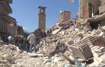 Daños por el sismo. Fuente: NASA Earth Science Disasters Program