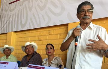 Director en jefe del Registro Agrario Nacional (RAN), Plutarco García Jiménez, se reunió con autoridades ejidales del municipio de Axochiapan, el más alejado de la capital morelense.