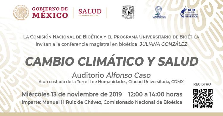 Conferencia Magistral en Bioética  Juliana González. CONBIOÉTICA / PUB UNAM